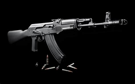 Ak 47 With Black Background
