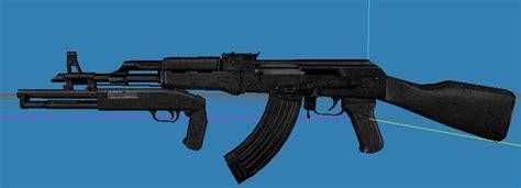 Ak 47 With Shotgun Attachment