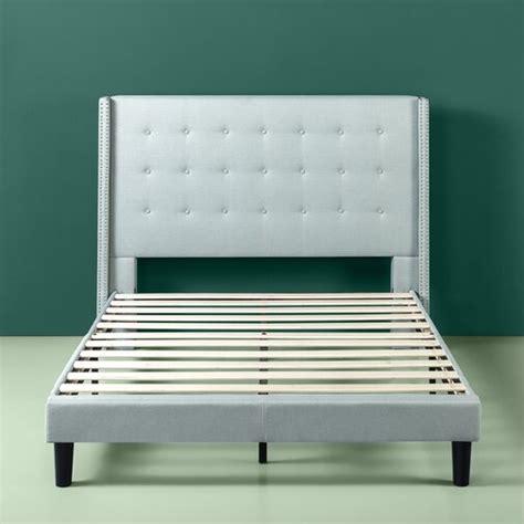 Alexio Upholstered Wingback Platform Bed Frame