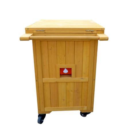 Alisanne Wooden Cooler-Warmer Bar Cart