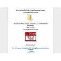 All natural kidney health & kidney function restoration program reviews