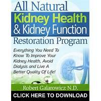 All natural kidney health & kidney function restoration program coupon code
