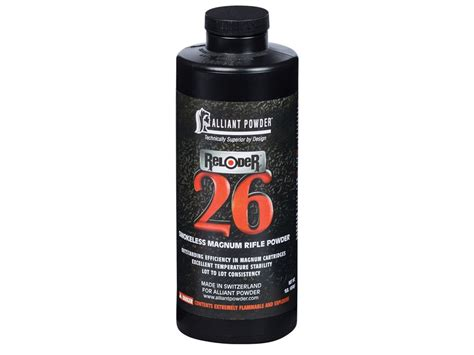 Alliant Reloder 26 Smokeless Powder 8 Lbs Precision