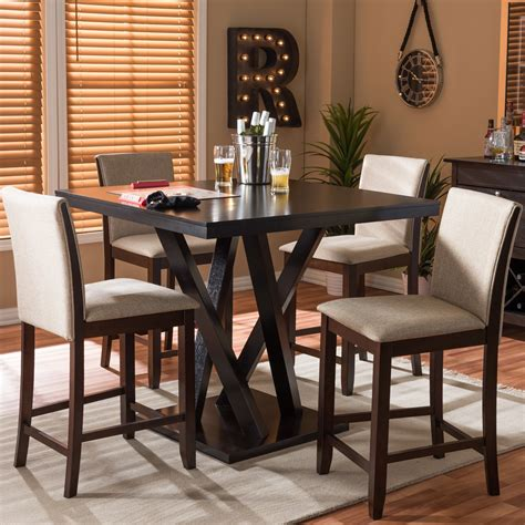 Amandes 5 Piece Pub Table Set