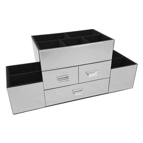 Amara 3 Drawer Tiered Mirrored Makeup/Jewelry Organizer
