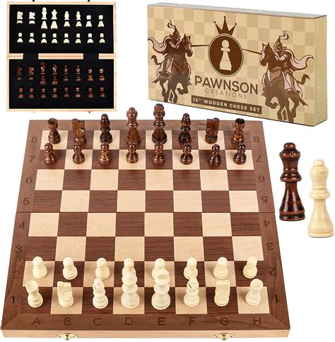 Amazon wooden chess set Image