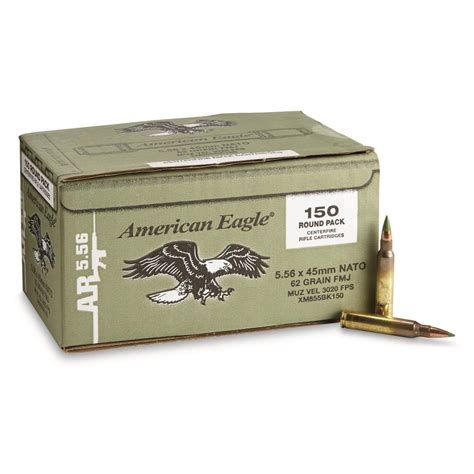 American Eagle 223 Ammo Green Tip And Black Hills 223 Vmax Ammo