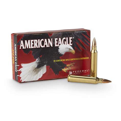 American Eagle 223 Remington 55 GR FMJ BT 20 Rd Box