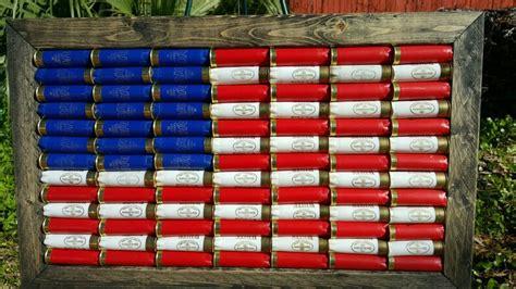 American Flag Made Out Of Shotgun Shells