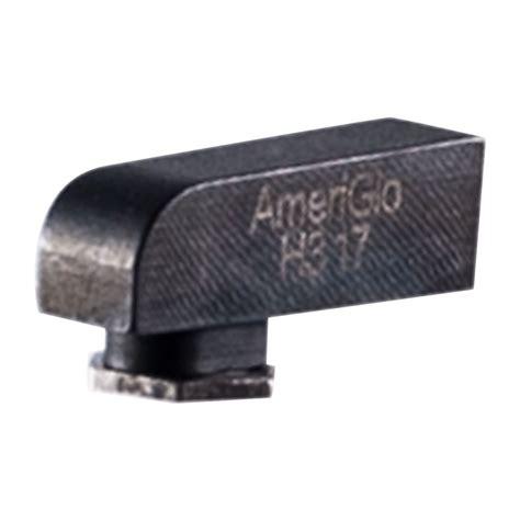 Ameriglo Proglo Tritium Square Front Sight 165x140 For Glock Proglo Tritium Square Front Sight 165x140 Grn For Glock