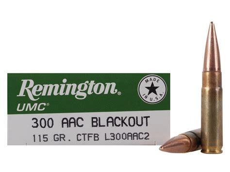 Ammo 300 Aac Blackout Remington Umc Fmj 115 Grain