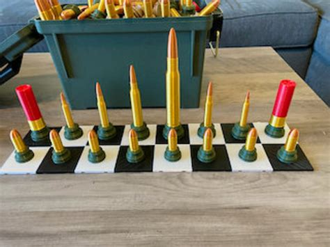 Ammo Can Chess Poker Set