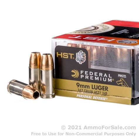 Ammo Quest 9mm Federal Hst 147gr