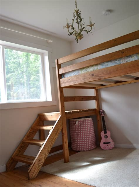 Ana white loft bed with stairs Image