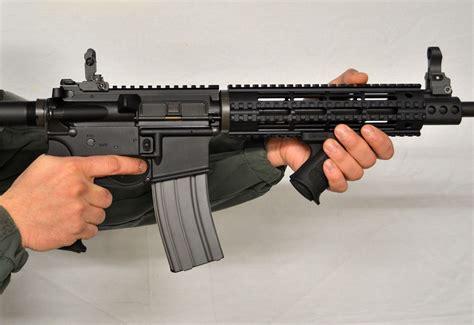 Angled Forward Grip On Ar Pistol