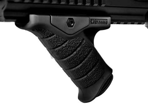 Angled Forward Grip On Pistol