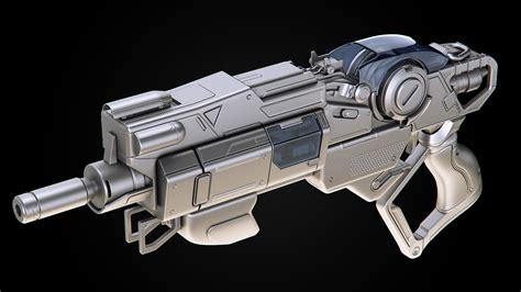 Angular Scifi Handgun