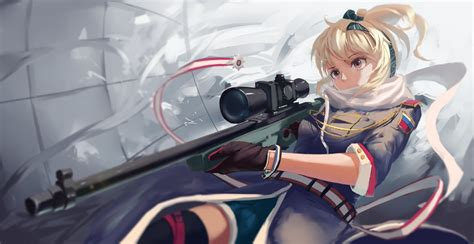 Anime Girls Who Use Sniper Rifle