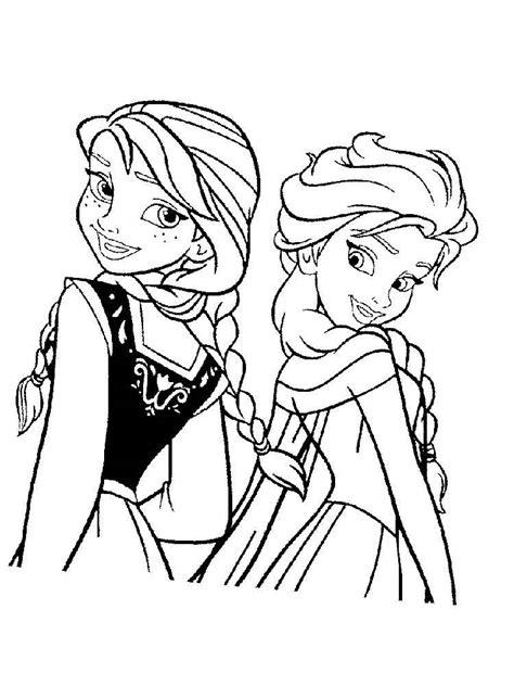 Anna Und Elsa Malvorlagen Zum Ausdrucken