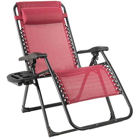 Annie Oversized Zero Gravity Chair with Pillow and Cup Holder