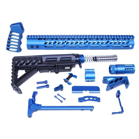 Anodized Ar Lower Parts Kit