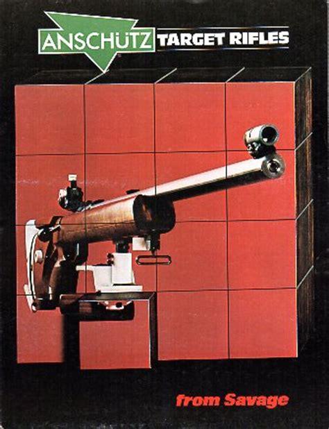 Anschutz Target Rifles Catalog