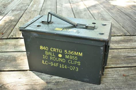 Antique Metal Ammo Box And Bvlack Box Ammo Sale