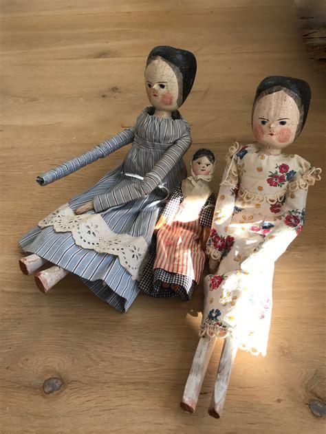 Antique wooden dolls Image