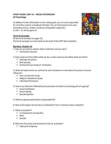 Ap Psychology Unit 14 Study Guide