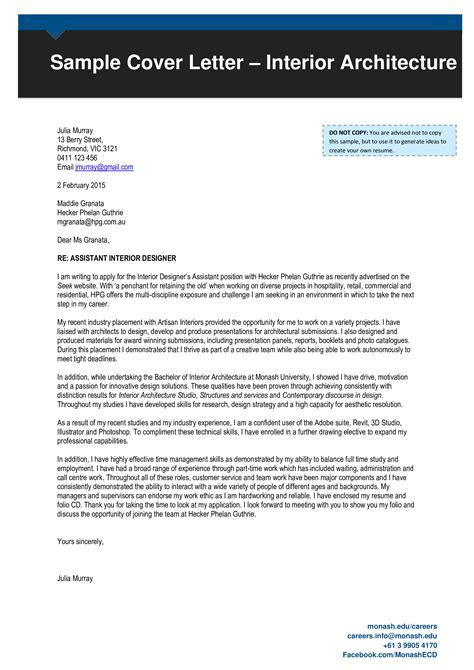 Application Letter Of Architect | Sample Resume For Fresh ...