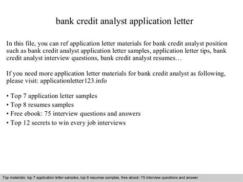 Application Letter For Credit Analyst | Resume Zapper Coupon