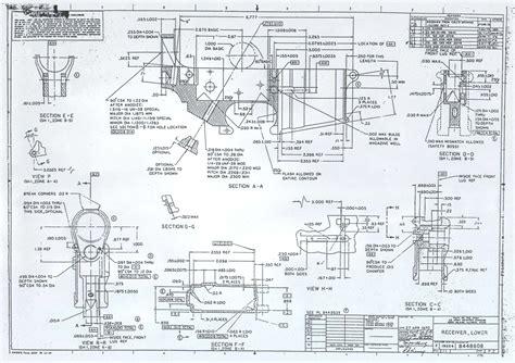 Ar 15 Lower Receiver Blueprint Diagram