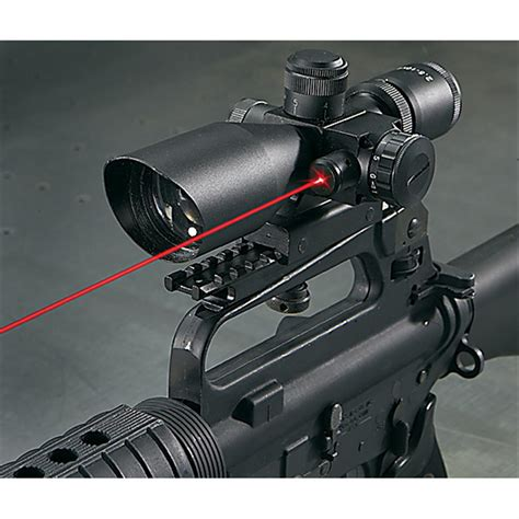 Ar 15 Scope With Laser And Flashlight