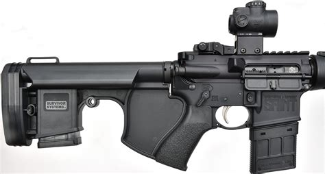 Ar 15 With Rifle Stock And Scope