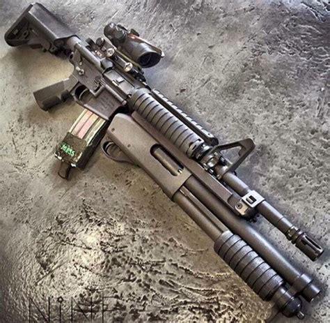 Ar 15 With Shotgun Attachment