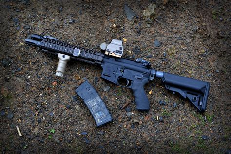Ar With Eotech And Magnifier