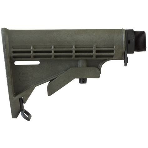 Ar15 A4 Stock Collapsible Commercial Green Brownells