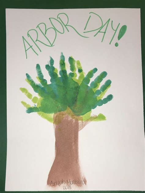 Arbor day craft projects for kids Image