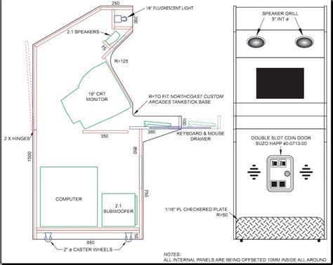 Arcade cabinet plans tankstick Image