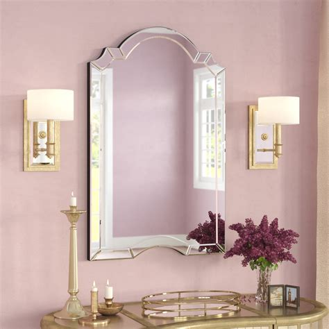 Arch Top Mirror Ekaterina Arch Crowned Top Wall Mirror