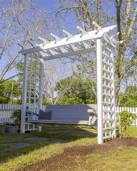 Arched Arbor For Swing How To Construct Image