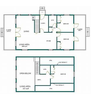 Arched Cabin Floor Plans