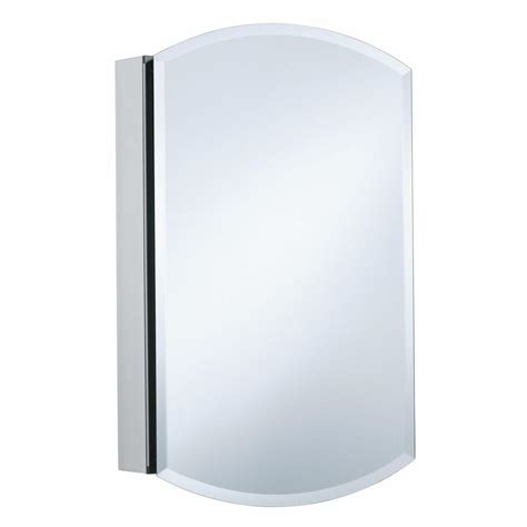 "Archer 20"" x 31"" Aluminum Recessed or Surface Mount Medicine Cabinet with Mirrored Door"