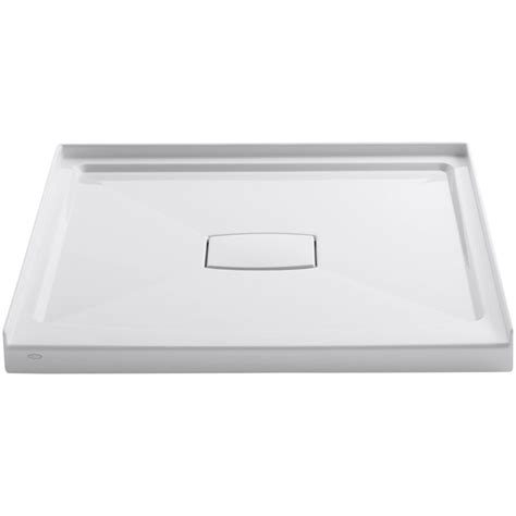 "Archer 42"" x 42"" Single Threshold Center Drain Shower Base with Removable Cover"