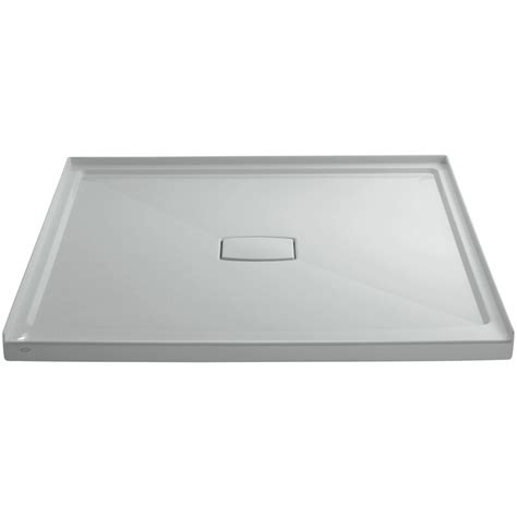 "Archer 60"" x 60"" Single Threshold Center Drain Shower Base with Removable Cover"