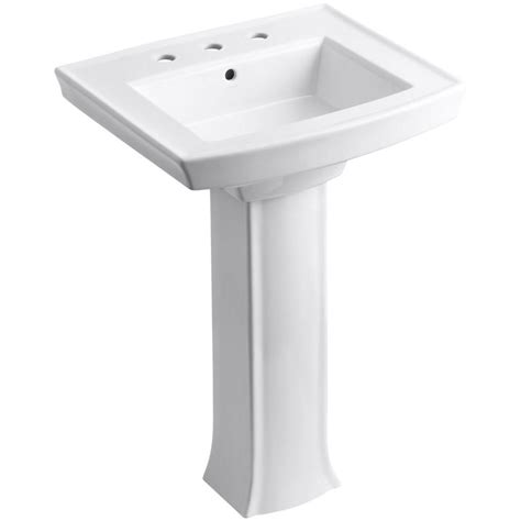 Archer Vitreous China Rectangular Bathroom Sink with Overflow