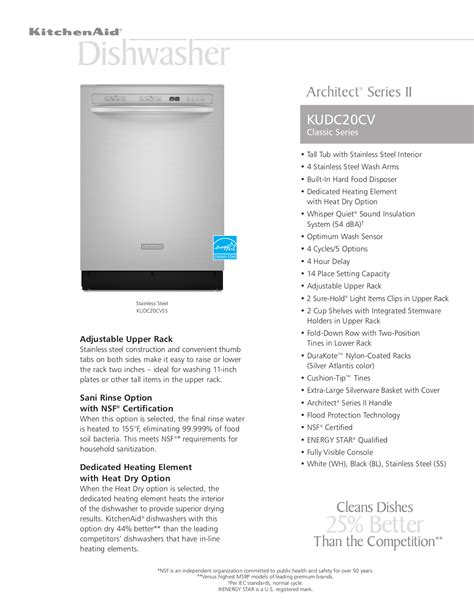 architect ii kitchenaid pdf manual
