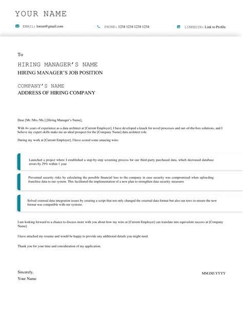 Internship Cover Letter Architecture