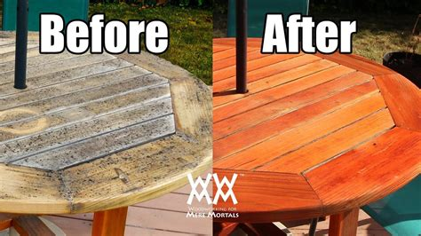 Are outdoor finishes useless refinishing my patio table Image
