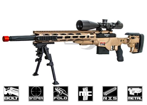 Ares Msr700 Bolt Action Spring Sniper Airsoft Rifle Dark Earth